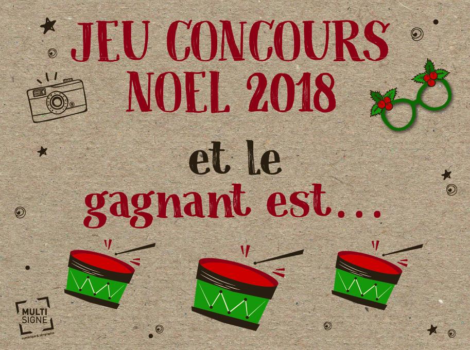 Et Le Grand Gagnant Du Concours De Noel 2018 Est Multisigne